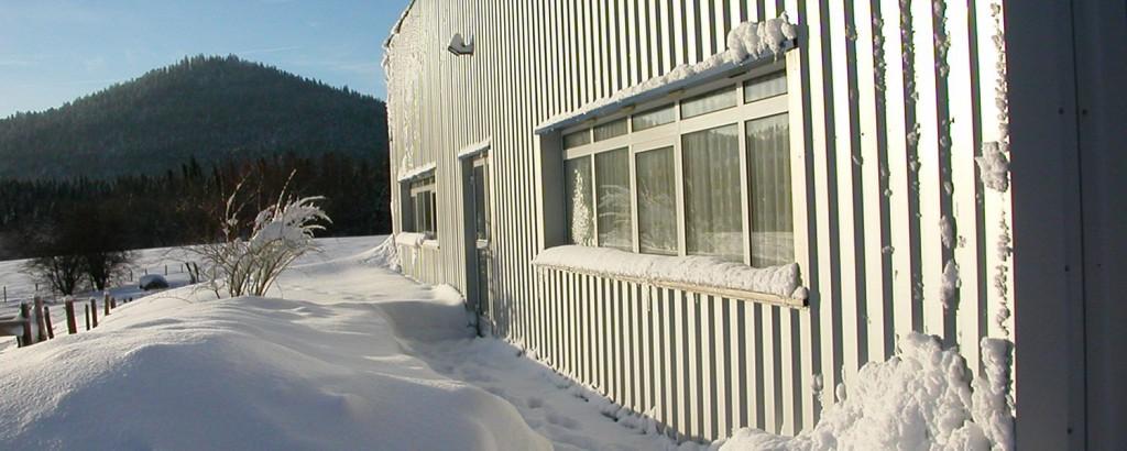 Les bureaux…sous la neige